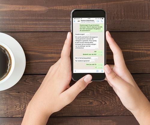 Primeur: Whatsapp nu met je ziekenfonds