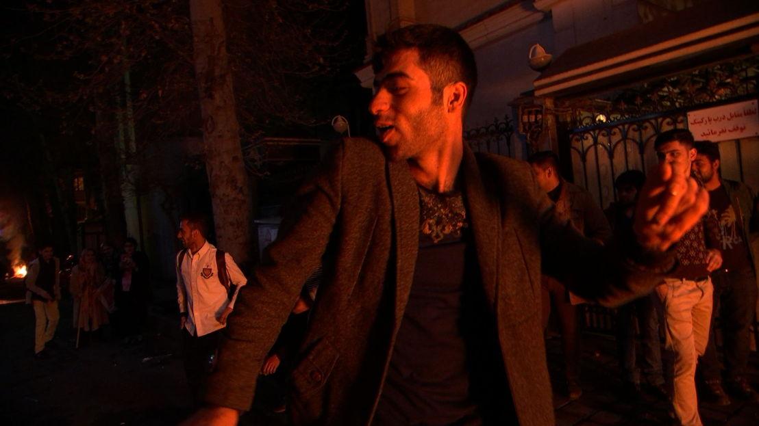 Dancing in Tehran street