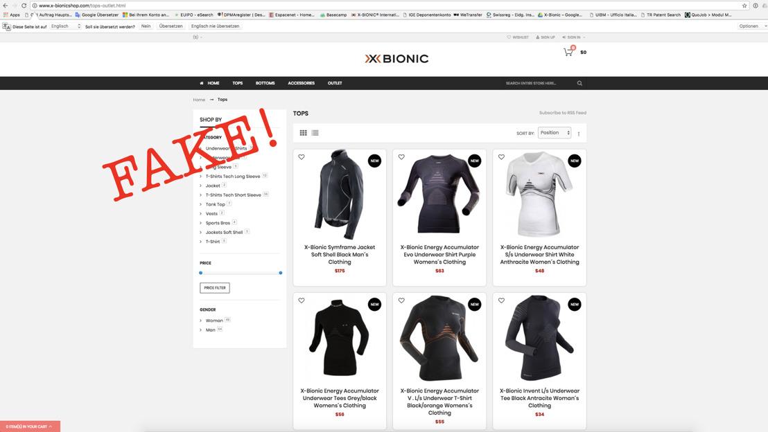 X-BIONIC und X-SOCKS sagen Fake-Shops und Plagiaten den Kampf an