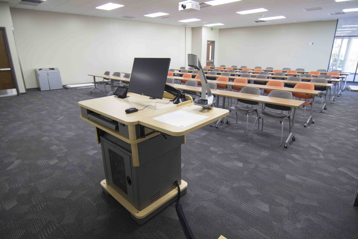 Sennheiser's SpeechLine Digital Wireless has set the new standard for wireless microphones in UNLV classrooms (Image courtesy of University of Nevada, Las Vegas)