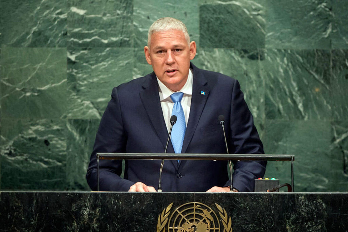 Prime Minister of Saint Lucia, the Hon. Allen Michael Chastanet, addresses the general debate of the 74th Session of the General Assembly of the UN
