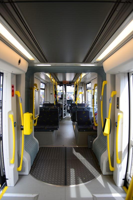 Binnenkant van de nieuwe Flexity 2-tram <br/>Credit: Bombardier