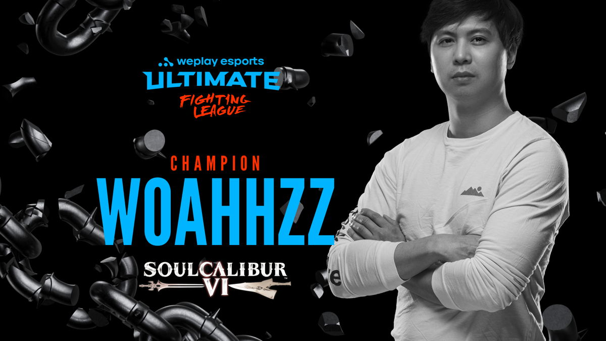 The winner of the WePlay Ultimate Fighting League SOULCALIBUR VI Event. Image: WePlay Esports