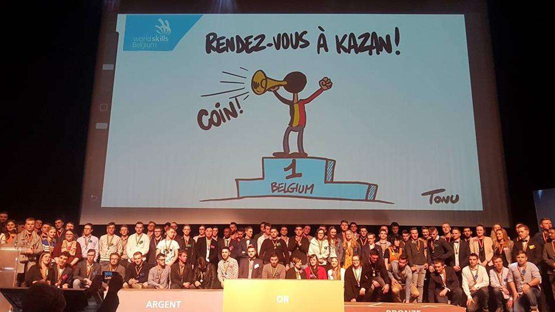 Voici les 97 médaillés, champions belges des métiers techniques!