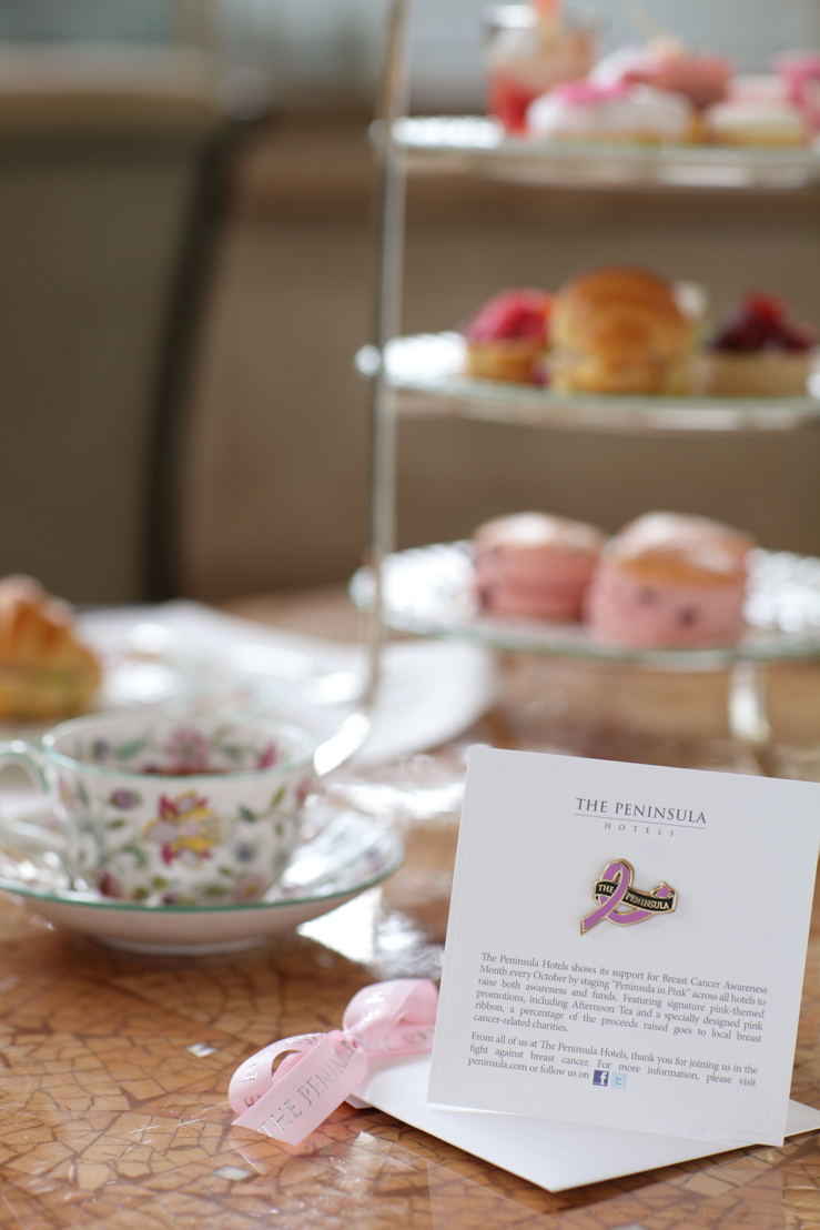 The Lobby's offers a special The Art of Pink Peninsula Afternoon Tea, featuring rose-tinted sweets and savory treats
