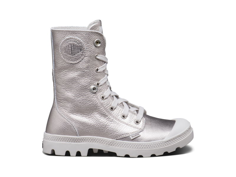 Palladium_women Baggy Metallic Lea - 99.95