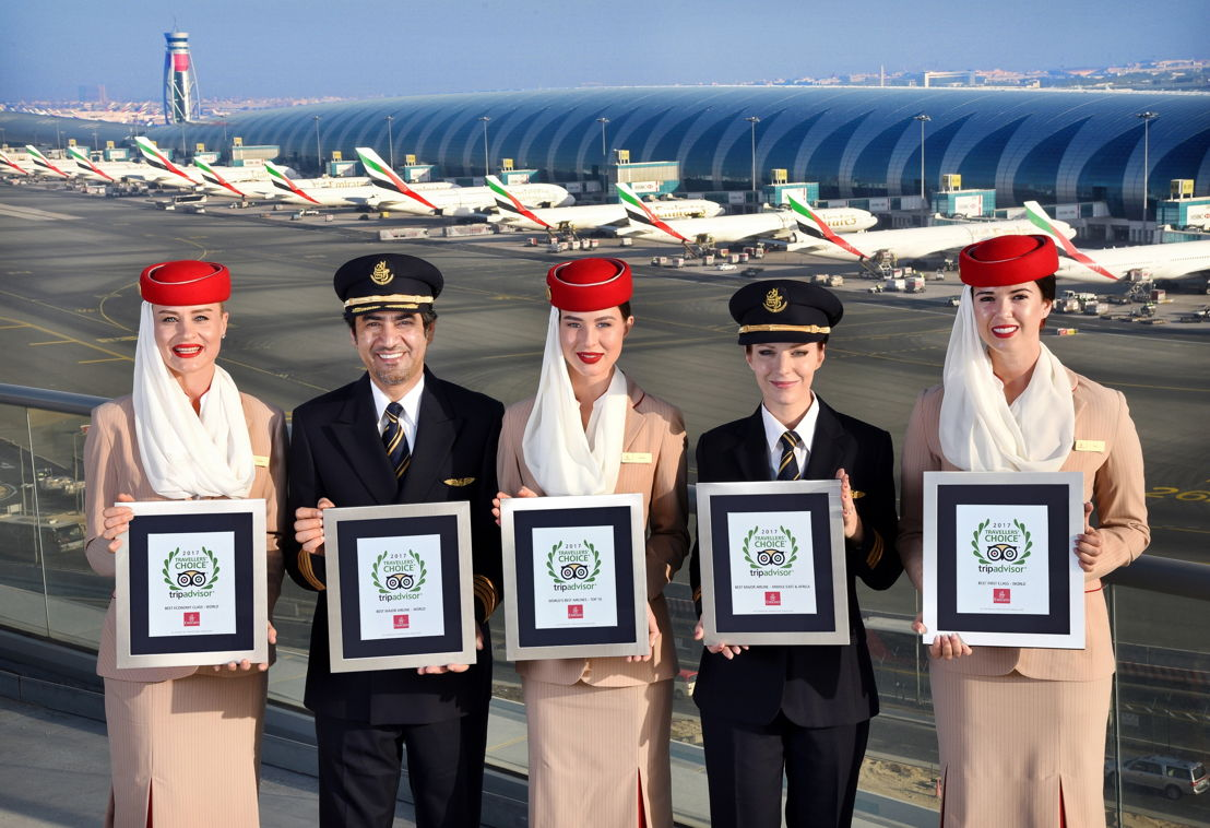 10 April - Emirates named Best Airline in the World in TripAdvisor Travelers' Choice Awards for Airlines 2017