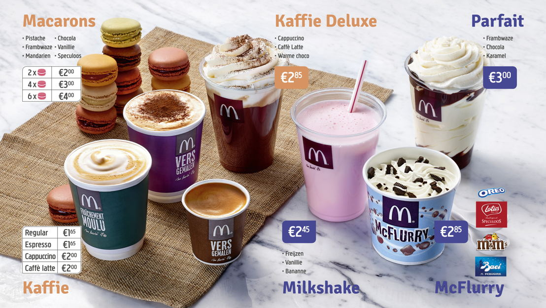 Digitaal menubord Desserts