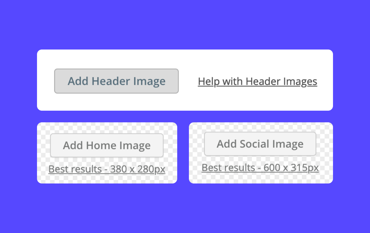 Help: Setting the header image, newsroom image & social image in your Story