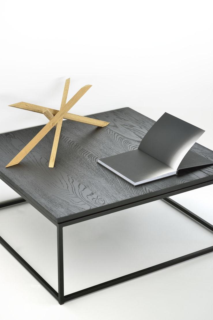 Ethnicraft Oak Thin coffee table black
