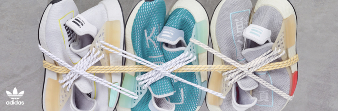 adidas Originals y Pharrell Williams presentan tres nuevos colorways de la silueta PW HU NMD