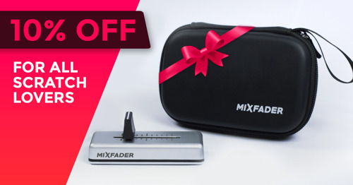 Valentine's Day Special offer for all music lovers: 10% Off Mixfader + Case Bundle