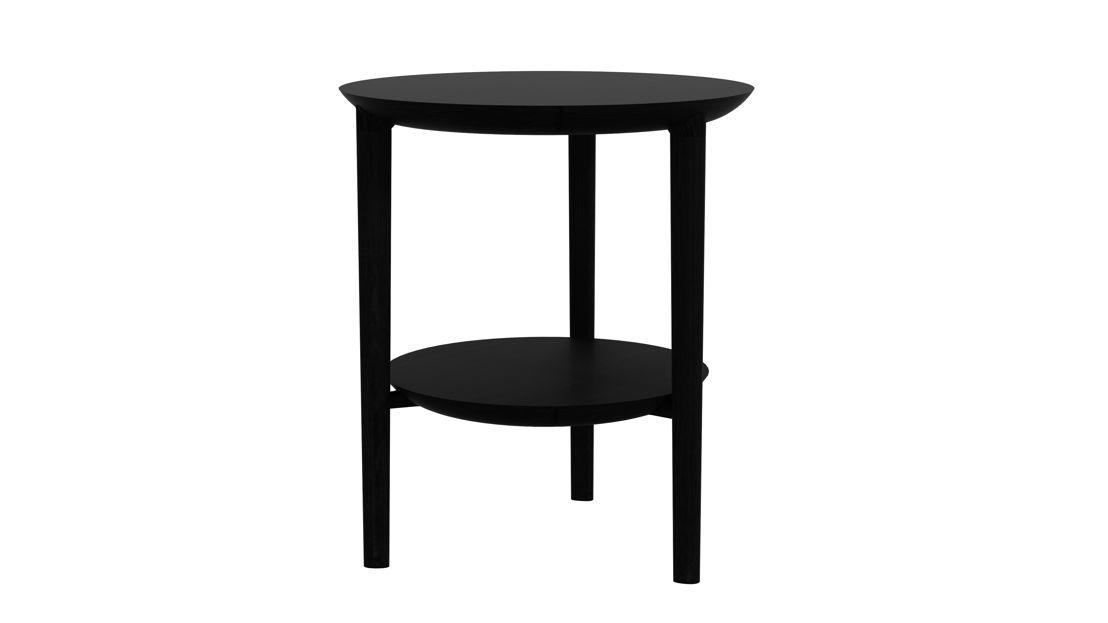 Ethnicraft Oak Bok side table black