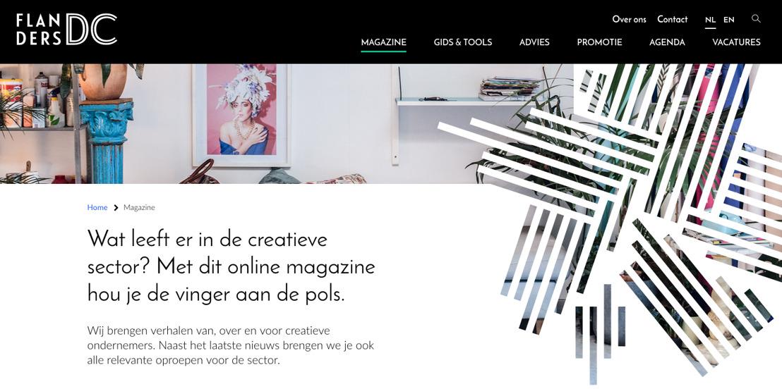 Flanders DC lanceert online magazine van, voor en over de creatieve sector in Vlaanderen