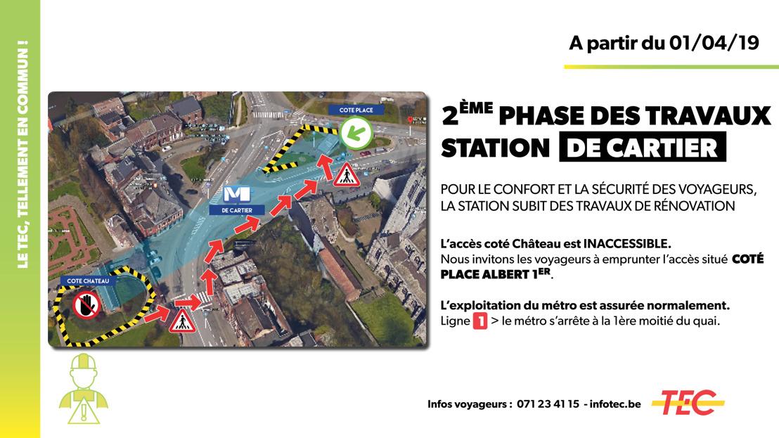 Station De Cartier : lancement de la 2ème phase des travaux