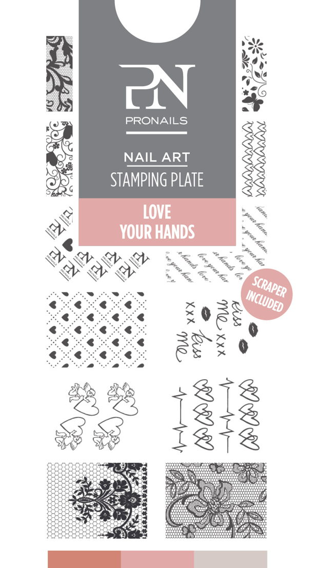 Stamping Plate Love Your Hznds uit Back to Wool collection