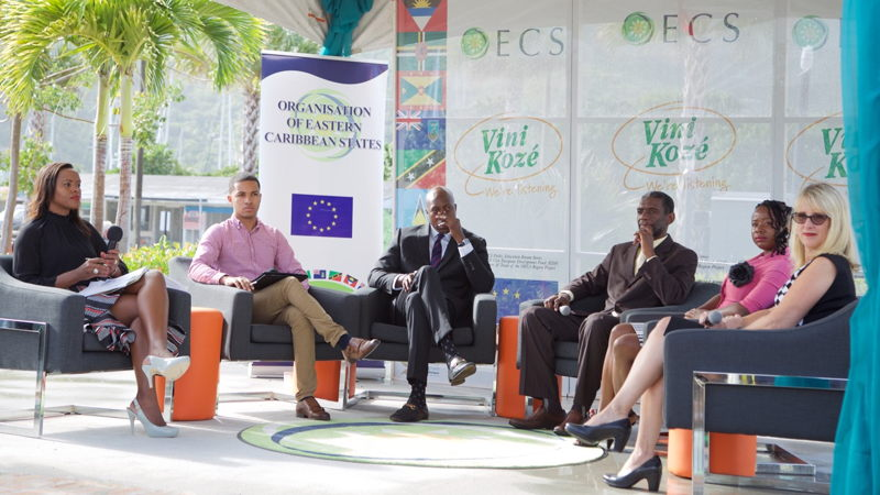 Panellists at the Vini Koze Forum on Education held in the British Virgin Islands.