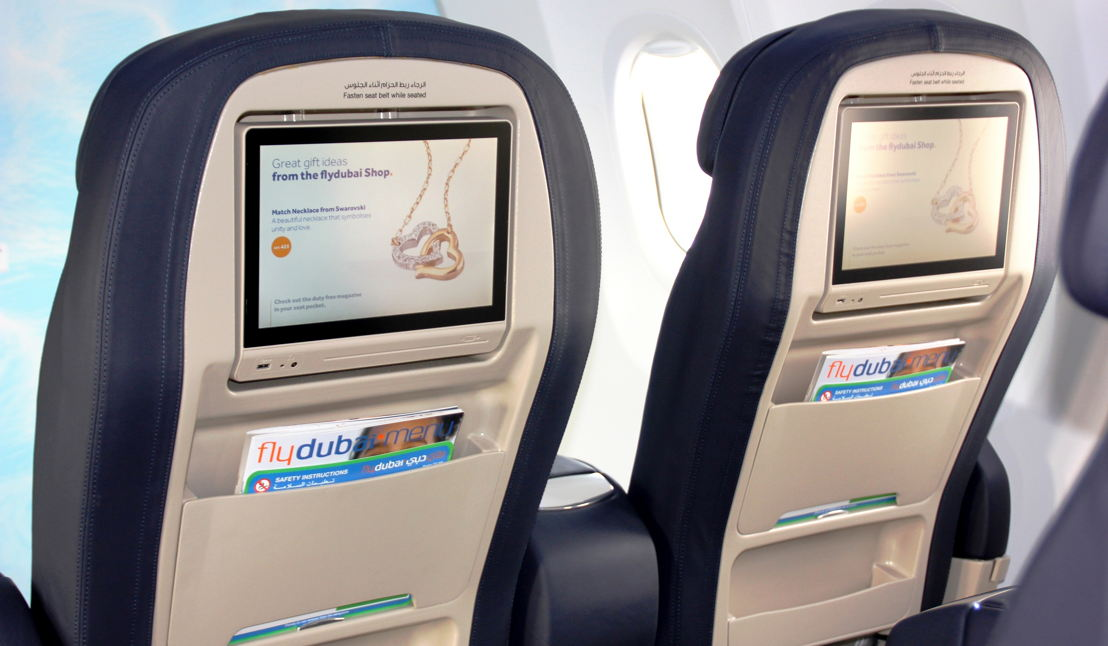 Business Class seats and inflight entertainment