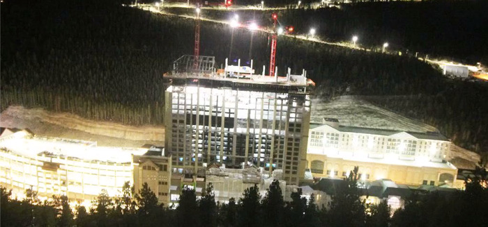 Two-year time-lapse video shows construction progress on Monarch Casino Resort Spa