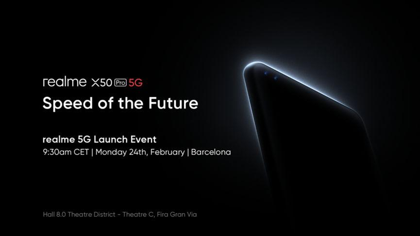 Póster oficial del anuncio del realme X50 Pro 5G