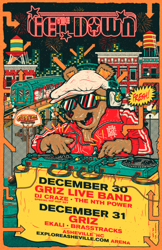 GRiZ Announces 'THE GET DOWN' NYE Shows in Asheville, NC