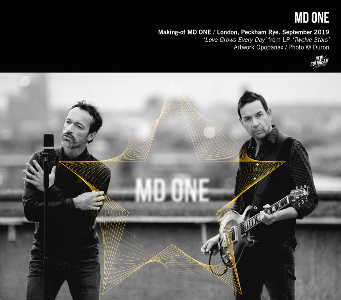 "MD ONE (Pop/Electro) présente son 1er single ""Love Grows Every Day"", extrait de son nouvel album ""Twelve Stars"" qui sortira début 2021"