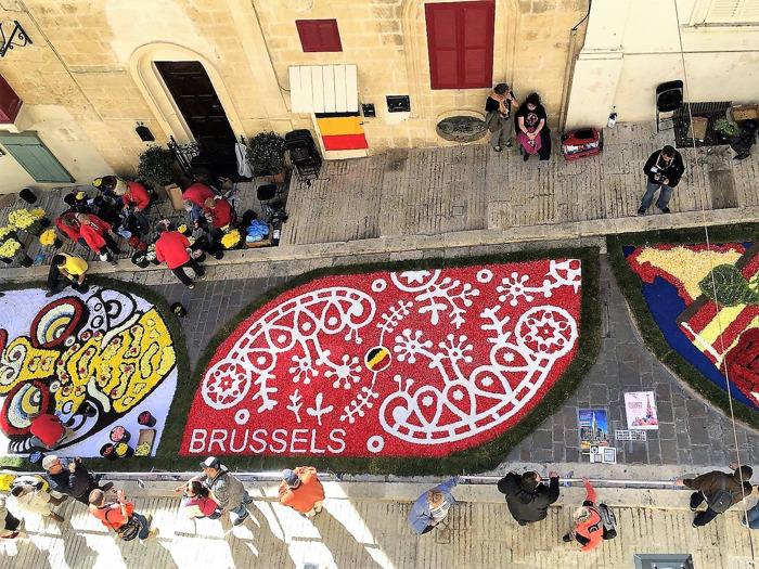 Newsflash : Le Tapis de Fleurs de Bruxelles, en voyage à Malte pour représenter la Belgique