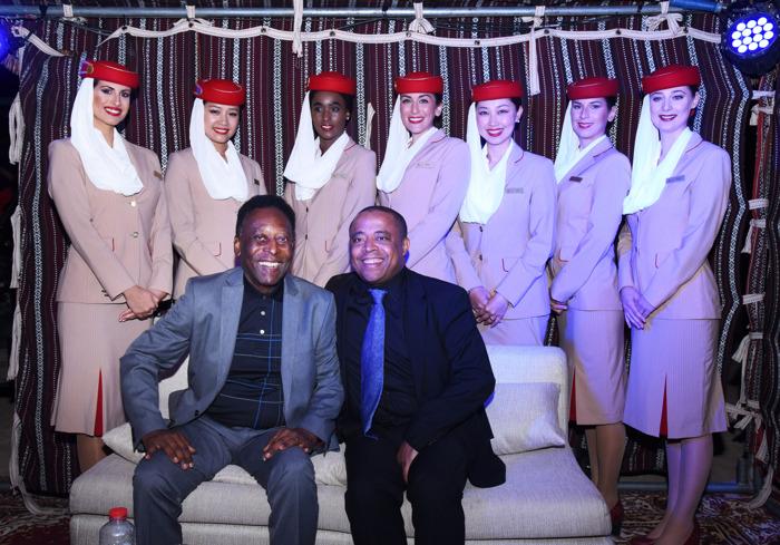 Emirates global ambassador Pelé attends the CVC convention in Dubai