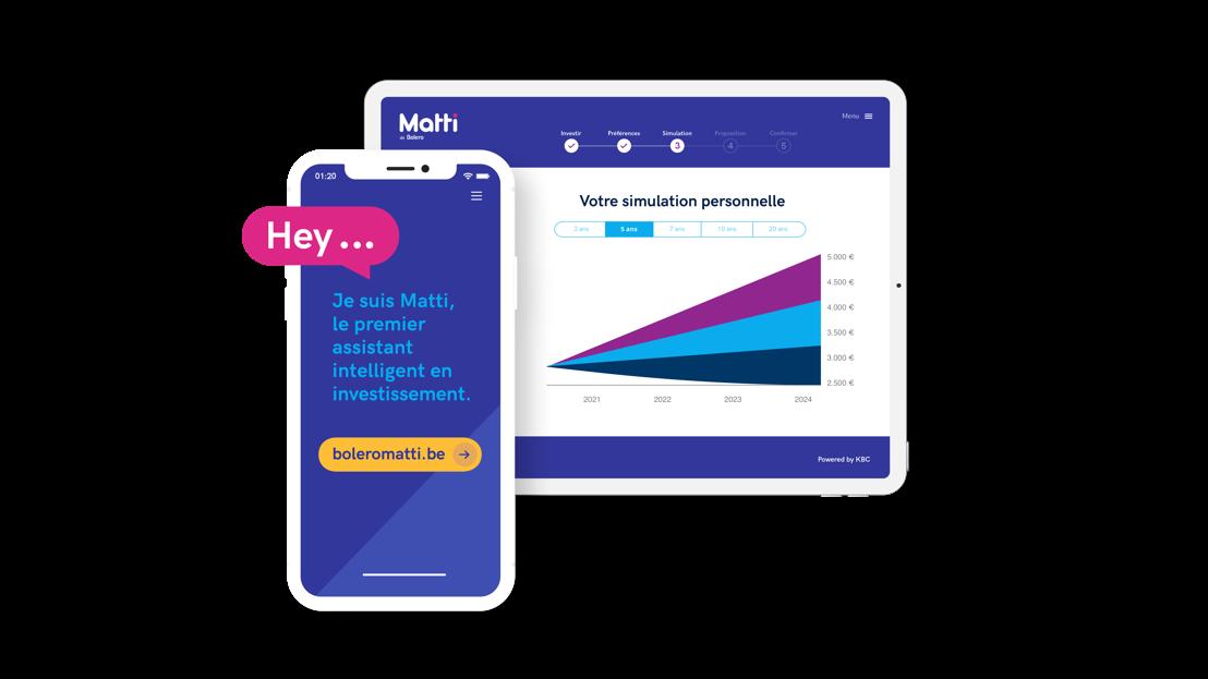 Matti de Bolero, l'assistant intelligent en investissement propose un portefeuille de trackers adapté aux besoins du client