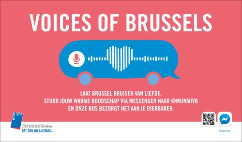De MIVB & mortierbrigade laten Brussel bruisen van liefde