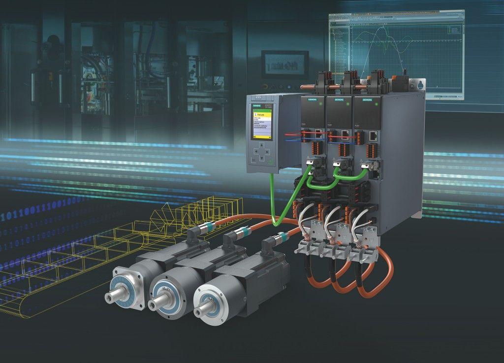 De nieuwe Simotics S-1FK2 servomotoren met voorgemonteerde planetaire kast vullen het Sinamics S210-servoaandrijfsysteem aan.