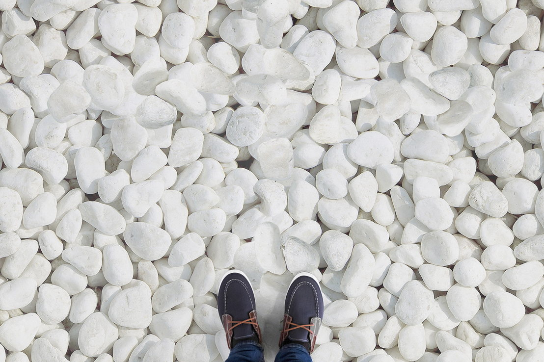 White Pebbles| Overhead