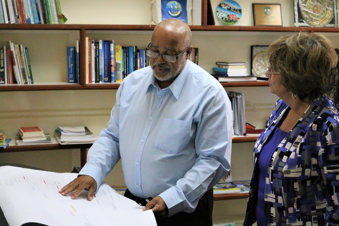 Director General of the OECS Commission Dr. Didacus Jules and United States Ambassador to the Organisation of Eastern Caribbean States (OECS) H.E. Linda Taglialatela