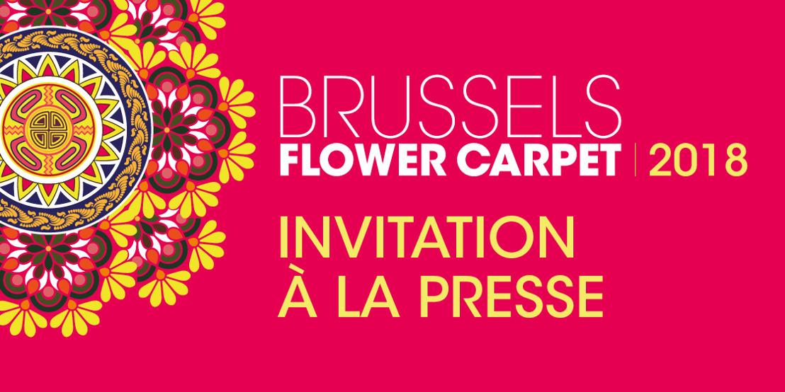 Invitation à la presse Brussels Flower Carpet 2018