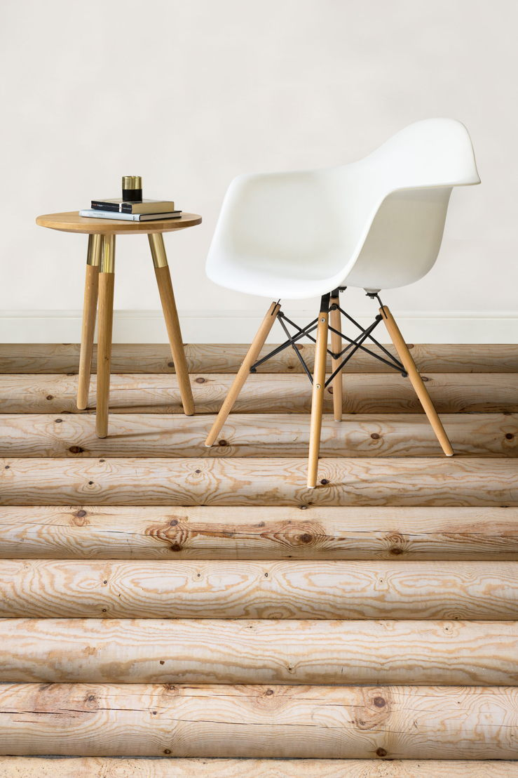 Chalet |   <br/>Log Wood Effect Vinyl Flooring