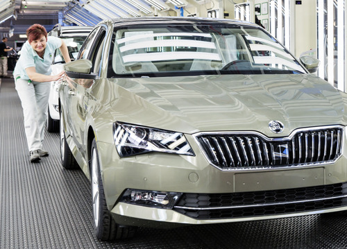Production milestone: 500,000th third-generation ŠKODA SUPERB