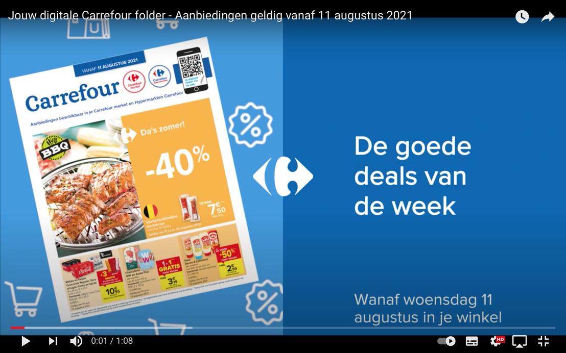 Carrefour is de eerste retailer in België die haar folders op YouTube zet