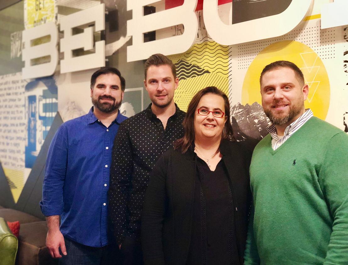 Jim de la Bastide,  Olivier Deneef, Anja Cappelle en Joe Donofrio