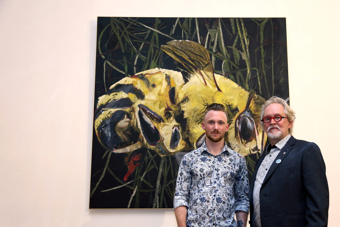 Greg Van Staey met Bart'd Eyckermans, voorzitter van KoMASK