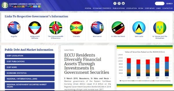 Preview: ECCB Launches ECCU Public Debt and Market Information Web Portal