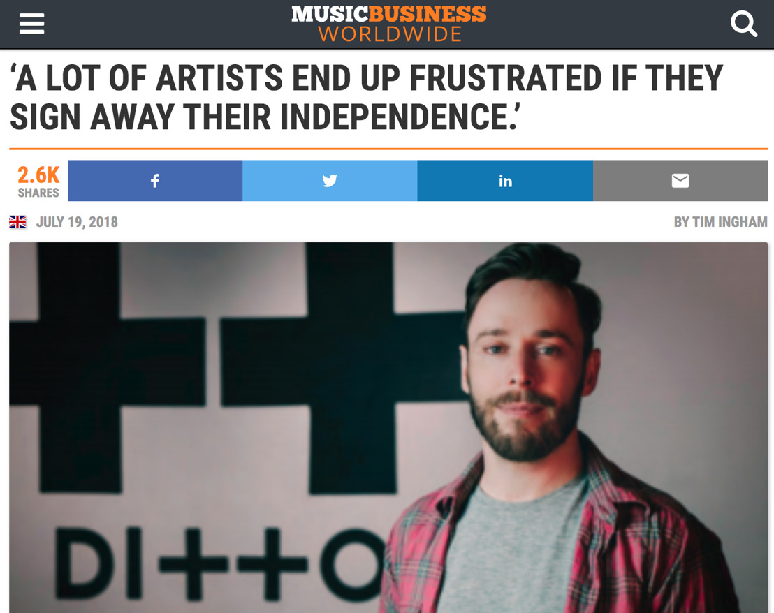 Ditto Music CEO Lee Parsons on the Company's Rise to Success.