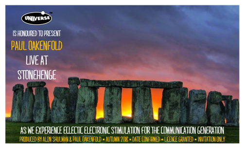 Superstar DJ Paul Oakenfold to Play Stonehenge