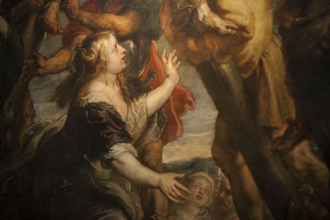 Peter Paul Rubens, Marteldood H. Andreas, detail2 (in situ in Rubenshuis), Fundación Carlos de Amberes te Madrid, foto Ans Brys