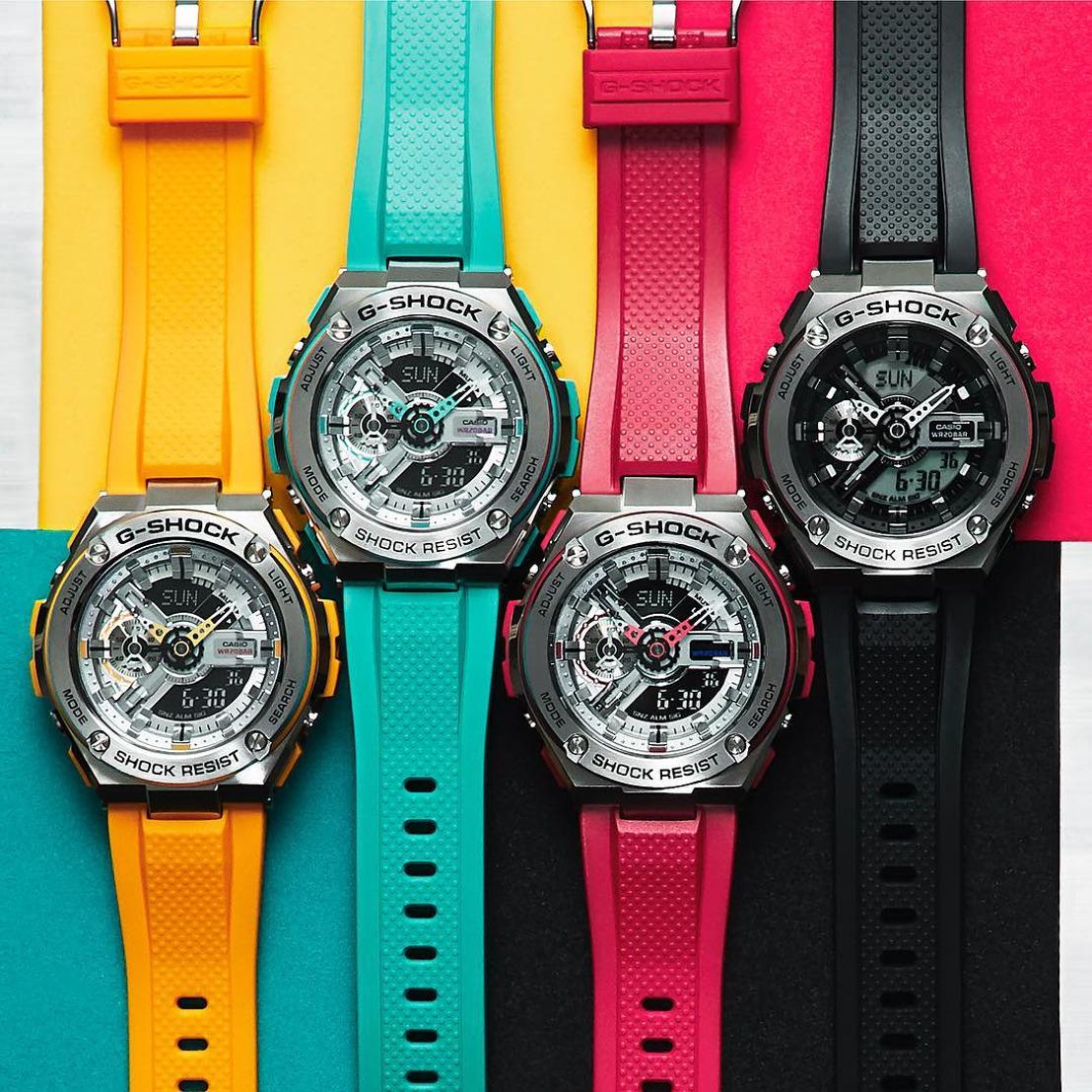 G-SHOCK se inspira en Mondrian para la nueva colección de G-STEEL en colores
