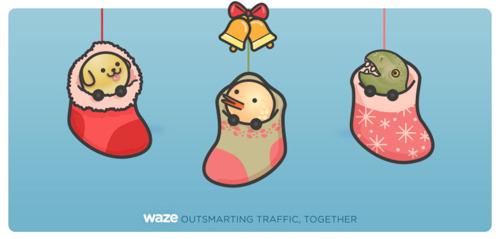 Recomendaciones de Waze durante época de navidad