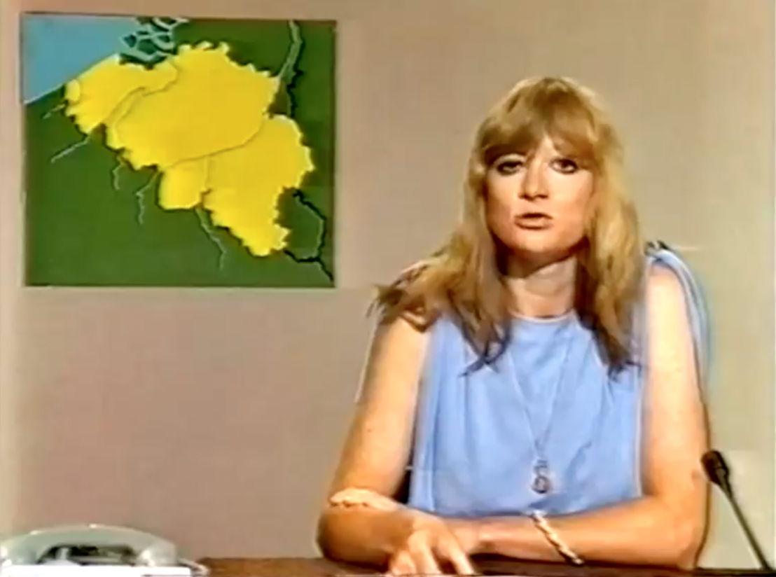 Martine Tanghe als nieuwsanker in 1978 - (c) VRT