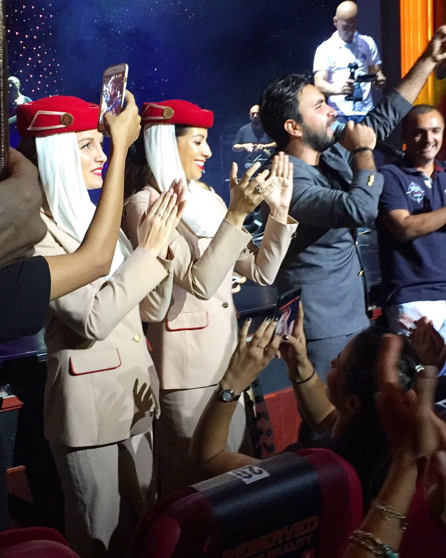 Nader Al Atat delighting thousands of fans at the 2017 Stars on Board entertainment event