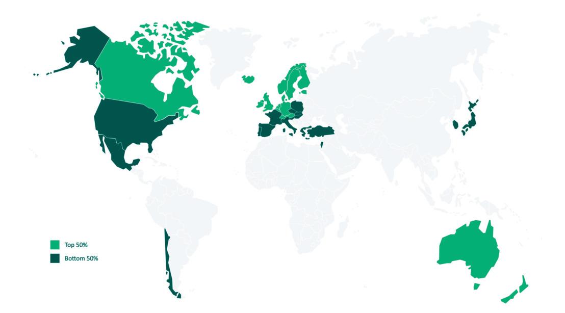 Welke zijn de meest duurzame OESO-landen?