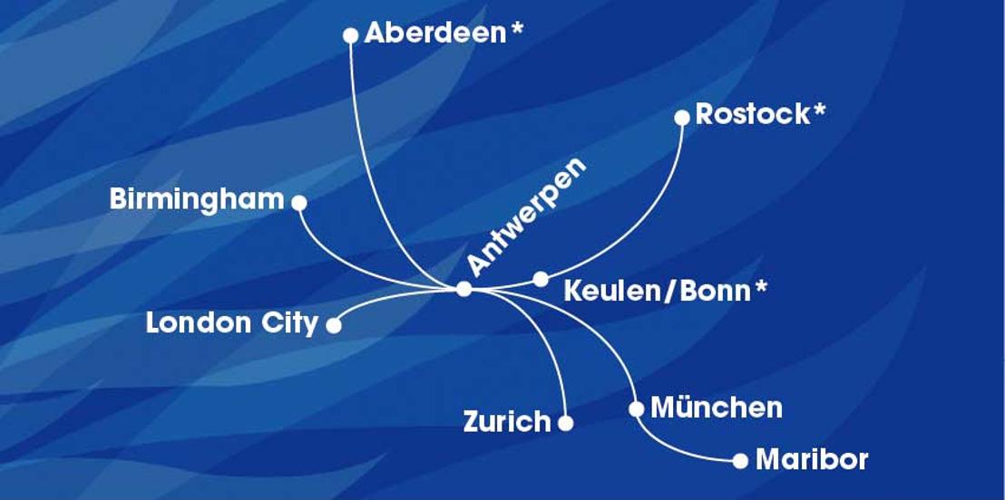 VLM kondigt 3 nieuwe bestemmingen aan: Aberdeen, Keulen-Bonn en Rostock