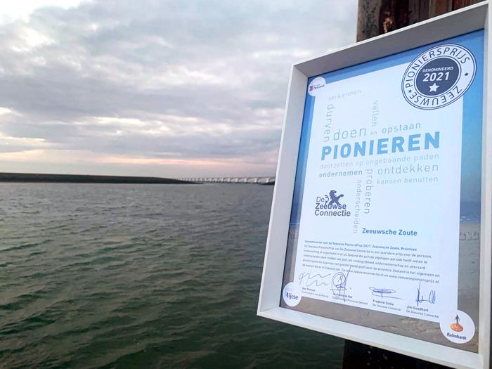 Preview: Zeeuwsche Zoute is publieksfavoriet tijdens uitreiking Zeeuwse PioniersPrijs 2021